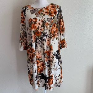 Vibe sportswear dress stretchy. Fall color flowers